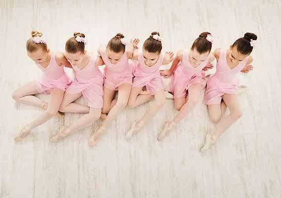 little girls dancing